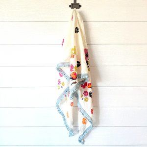 J Jill Embroidered Floral Triangle Scarf